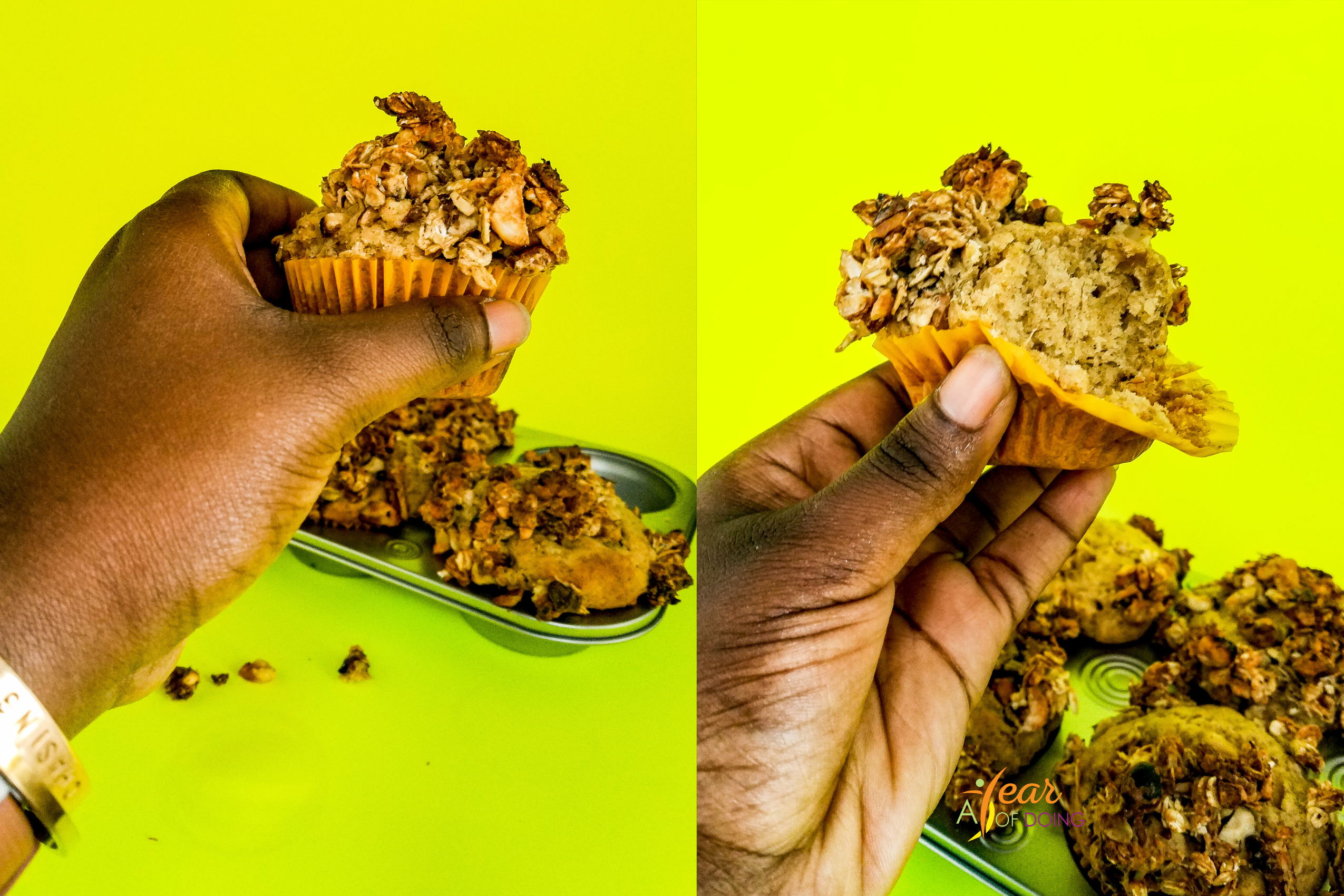 Lifting the Brown Butter Banana Bread Muffin